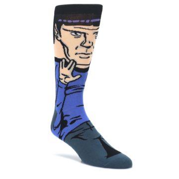 Blue-Gray-Spock-Star-Trek-360-Mens-Casual-Socks-BIOWORLD