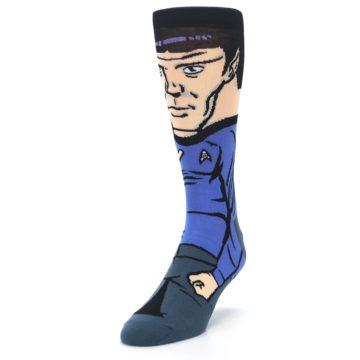 Image of Blue Gray Spock Star Trek 360 Men's Casual Socks (side-2-front-07)