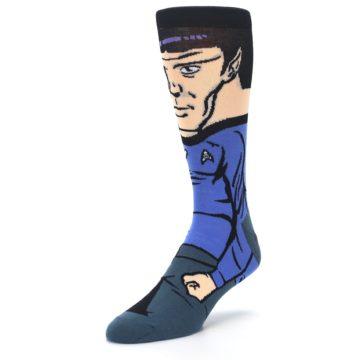 Image of Blue Gray Spock Star Trek 360 Men's Casual Socks (side-2-front-08)