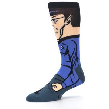 Image of Blue Gray Spock Star Trek 360 Men's Casual Socks (side-2-10)