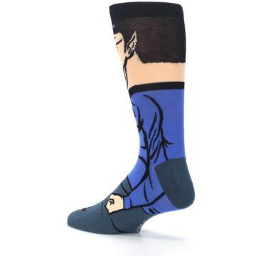Image of Blue Gray Spock Star Trek 360 Men's Casual Socks (side-2-back-14)