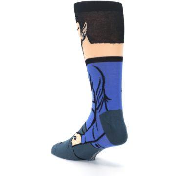 Image of Blue Gray Spock Star Trek 360 Men's Casual Socks (side-2-back-15)