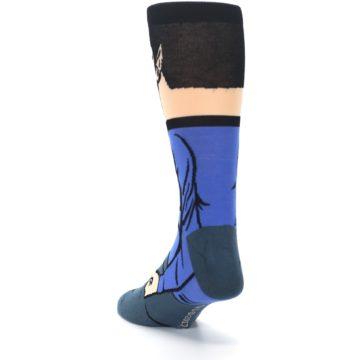 Image of Blue Gray Spock Star Trek 360 Men's Casual Socks (side-2-back-16)