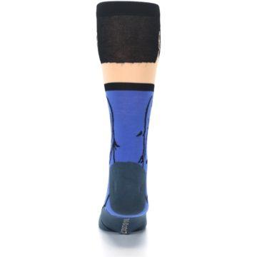 Image of Blue Gray Spock Star Trek 360 Men's Casual Socks (back-18)