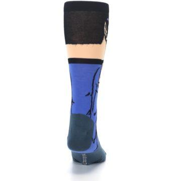Image of Blue Gray Spock Star Trek 360 Men's Casual Socks (back-19)