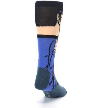 Image of Blue Gray Spock Star Trek 360 Men's Casual Socks (side-1-back-20)