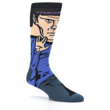 Image of Blue Gray Spock Star Trek 360 Men's Casual Socks (side-1-26)