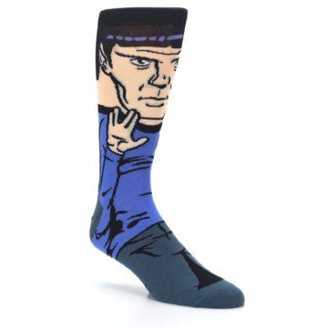 Image of Blue Gray Spock Star Trek 360 Men's Casual Socks (side-1-27)