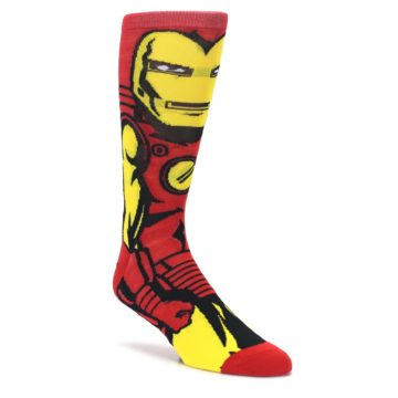 Red-Yellow-Iron-Man-360-Mens-Casual-Socks-BIOWORLD