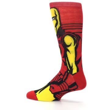 Image of Red Yellow Iron Man 360 Men's Casual Socks (side-2-13)