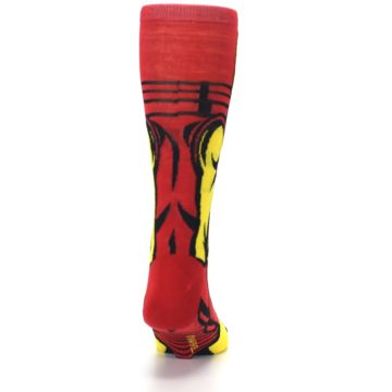 Image of Red Yellow Iron Man 360 Men's Casual Socks (back-19)