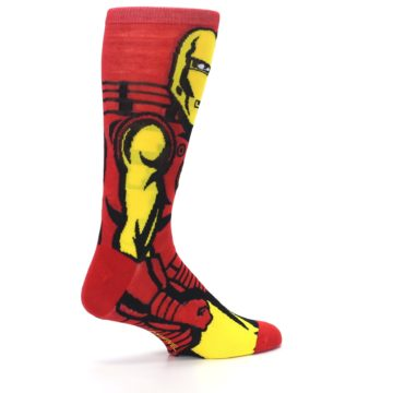 Image of Red Yellow Iron Man 360 Men's Casual Socks (side-1-23)