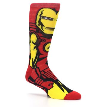 Image of Red Yellow Iron Man 360 Men's Casual Socks (side-1-26)