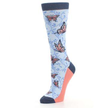 Image of Blue Coral Butterfly Women's Dress Socks (side-2-09)