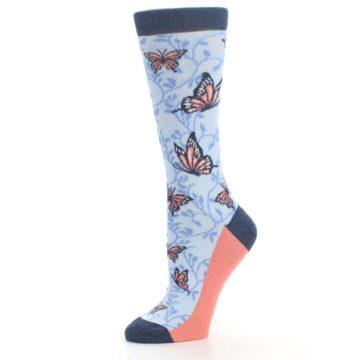 Image of Blue Coral Butterfly Women's Dress Socks (side-2-10)