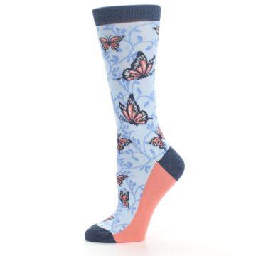 Image of Blue Coral Butterfly Women's Dress Socks (side-2-11)