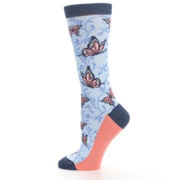 Image of Blue Coral Butterfly Women's Dress Socks (side-2-12)
