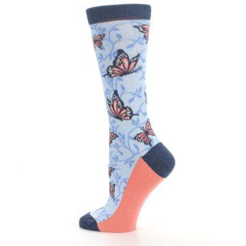Image of Blue Coral Butterfly Women's Dress Socks (side-2-13)