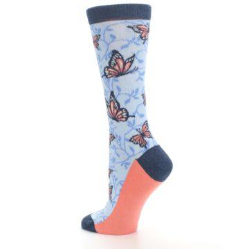 Image of Blue Coral Butterfly Women's Dress Socks (side-2-back-14)