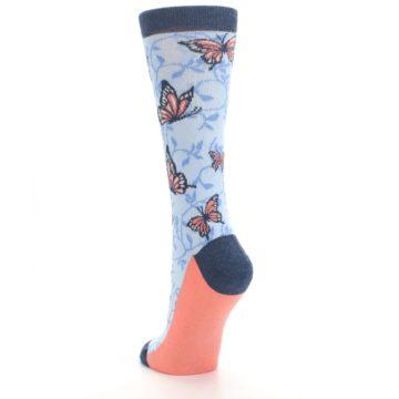 Image of Blue Coral Butterfly Women's Dress Socks (side-2-back-16)
