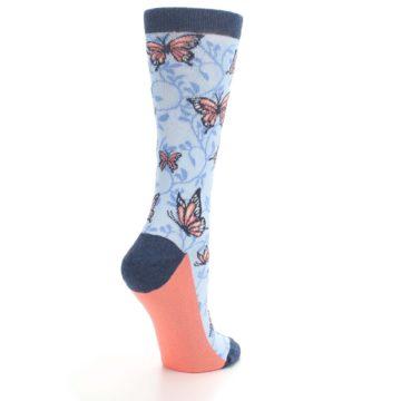Image of Blue Coral Butterfly Women's Dress Socks (side-1-back-22)