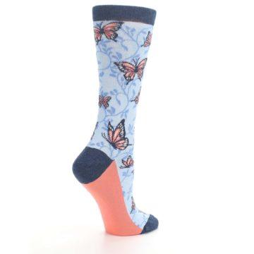 Image of Blue Coral Butterfly Women's Dress Socks (side-1-23)