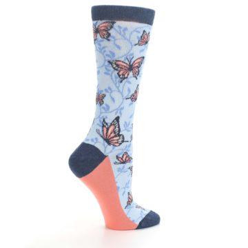 Image of Blue Coral Butterfly Women's Dress Socks (side-1-24)