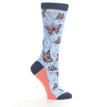 Image of Blue Coral Butterfly Women's Dress Socks (side-1-25)
