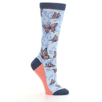 Image of Blue Coral Butterfly Women's Dress Socks (side-1-26)