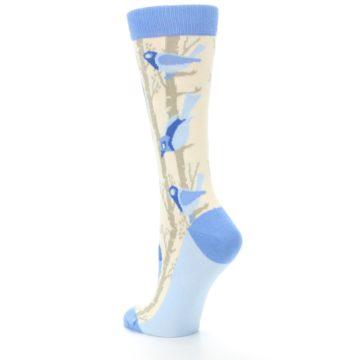 Image of Blue Cream Birds Women's Dress Socks (side-2-back-15)