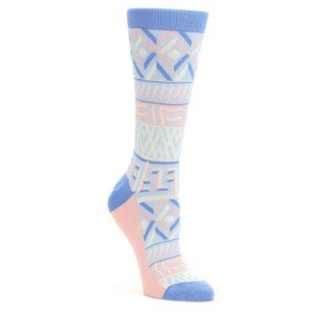 Blue Light Coral Tribal Pattern Women's Dress Socks