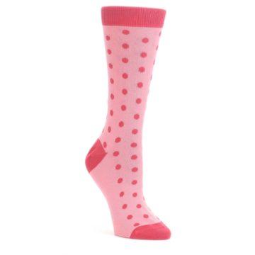 Flamingo-Guava-Polka-Dot-Womens-Dress-Socks-Statement-Sockwear