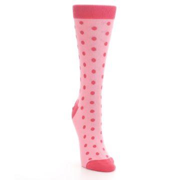 Image of Flamingo Guava Polka Dot Women's Dress Socks (side-1-front-03)
