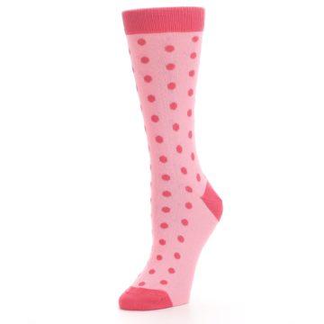 Image of Flamingo Guava Polka Dot Women's Dress Socks (side-2-09)