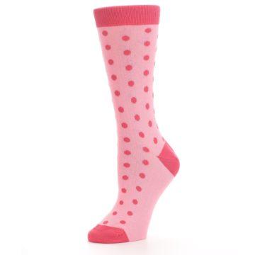 Image of Flamingo Guava Polka Dot Women's Dress Socks (side-2-10)