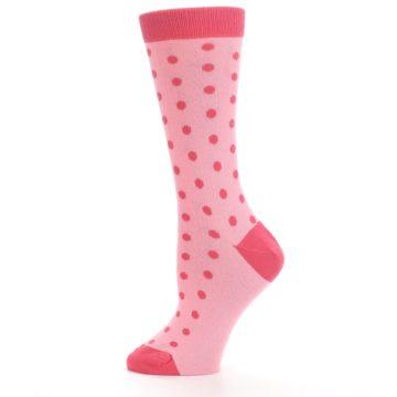 Image of Flamingo Guava Polka Dot Women's Dress Socks (side-2-12)
