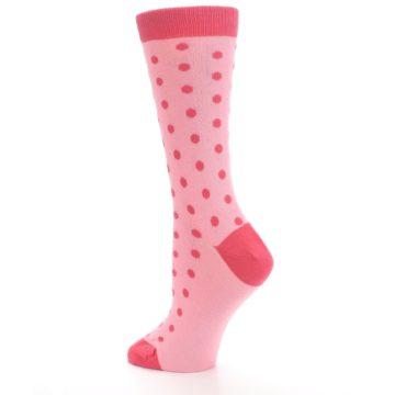 Image of Flamingo Guava Polka Dot Women's Dress Socks (side-2-back-14)