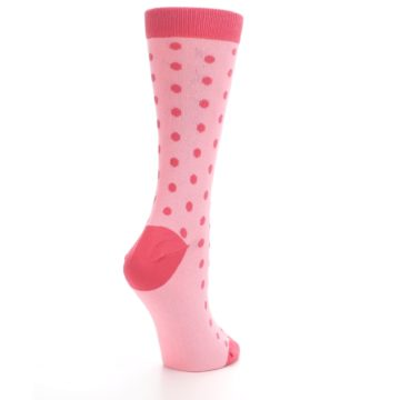 Image of Flamingo Guava Polka Dot Women's Dress Socks (side-1-back-22)