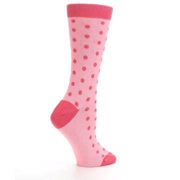 Image of Flamingo Guava Polka Dot Women's Dress Socks (side-1-24)