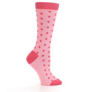 Image of Flamingo Guava Polka Dot Women's Dress Socks (side-1-25)