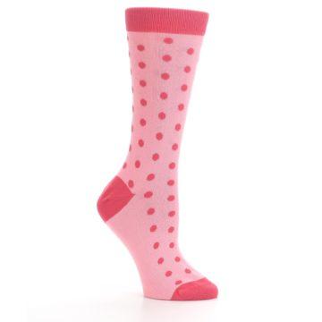 Image of Flamingo Guava Polka Dot Women's Dress Socks (side-1-26)