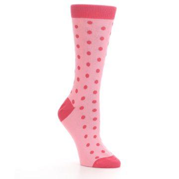 Image of Flamingo Guava Polka Dot Women's Dress Socks (side-1-27)