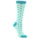 Image of Mint Jade Polka Dot Women's Dress Socks (side-1-front-01)