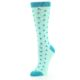 Image of Mint Jade Polka Dot Women's Dress Socks (side-2-09)
