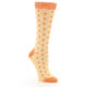 Image of Light Orange Polka Dot Women's Dress Socks (side-1-front-01)