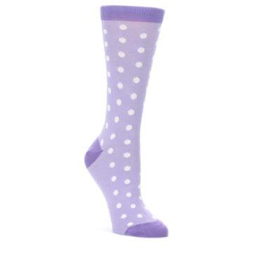 Lilac-Iris-Purple-Polka-Dot-Womens-Dress-Socks-Statement-Sockwear