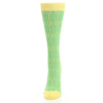 Image of Green Yellow Feather Optics Women's Dress Socks (side-2-front-06)
