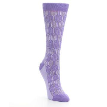 Image of Purple Feather Optics Women's Dress Socks (side-1-front-02)