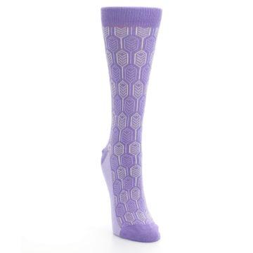 Image of Purple Feather Optics Women's Dress Socks (side-1-front-03)