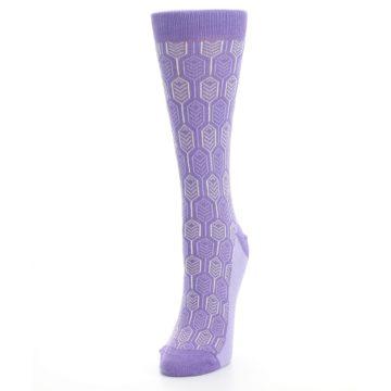 Image of Purple Feather Optics Women's Dress Socks (side-2-front-07)